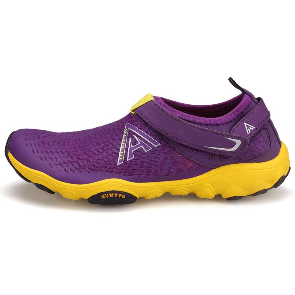 HUMTTO Unisex Athletic Water Shoes Man and Women Swim Walking Lake Beach Boating Shoes B079CFNZ5Z Women 8.5/Men 7|2329 Purple