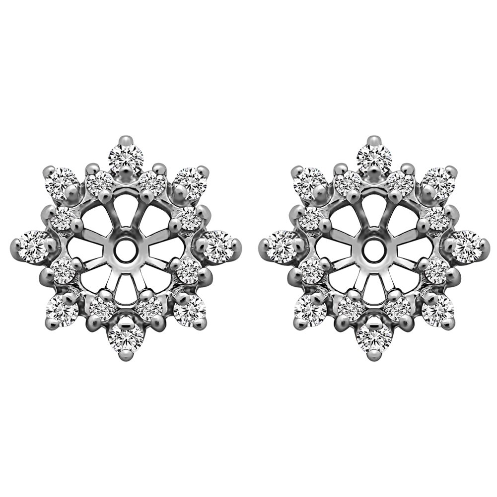 1/2 ct. Diamonds (G-H,I2-I3) Cluster Style Earring Jacket in 10k White Gold (0.48 ct. twt.) by TwoBirch