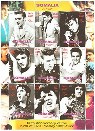 Elvis Presley stamps - 65th anniversary of the birth of Elvis Presley 1935-1977 - Mint and never mounted sheet with 1 stamp