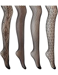 Black Sexy Fishnet Socks / Stockings / Thigh High / Control Top Pantyhoses for Women Girls