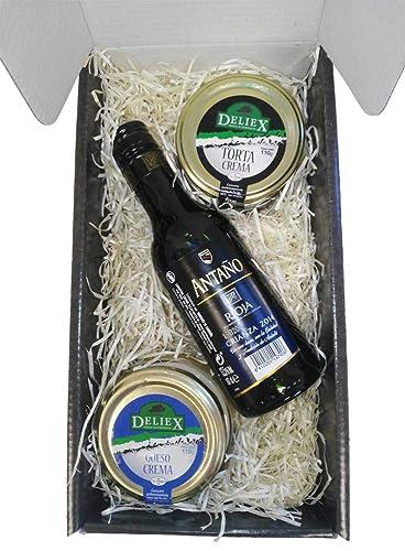 Caja Estuche Gourmet con Queso de la Serena y Crema de Queso de Oveja Vino Antaño