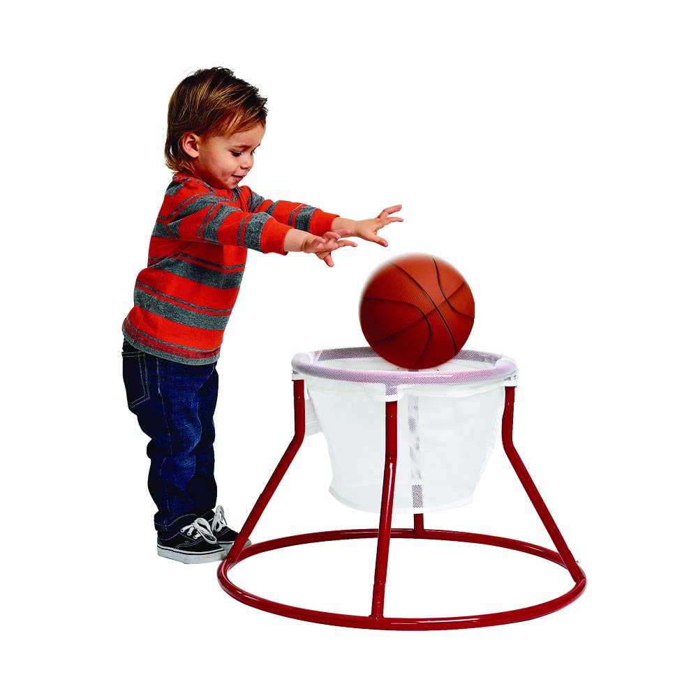 Excellerations Slamdunk Floor Hoop Ball Goal Toy for Toddlers Fun Active Activity for Young Children