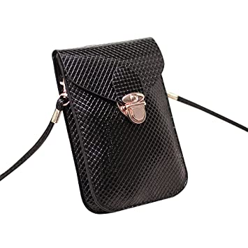 Contever® Mini Cross-body Shoulder Bags Phone Pouch Bag with PU Leather  Shoulder Strap for Girls (Black)  Amazon.co.uk  Beauty acdfae30c0