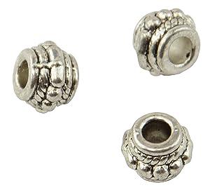 Confezione di 25Barrel metal/perline 7x 7mm (2–32)