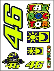 Valentino Rossi Multi Vr46 Small Classic Sticker Pack (Default, Yellow)