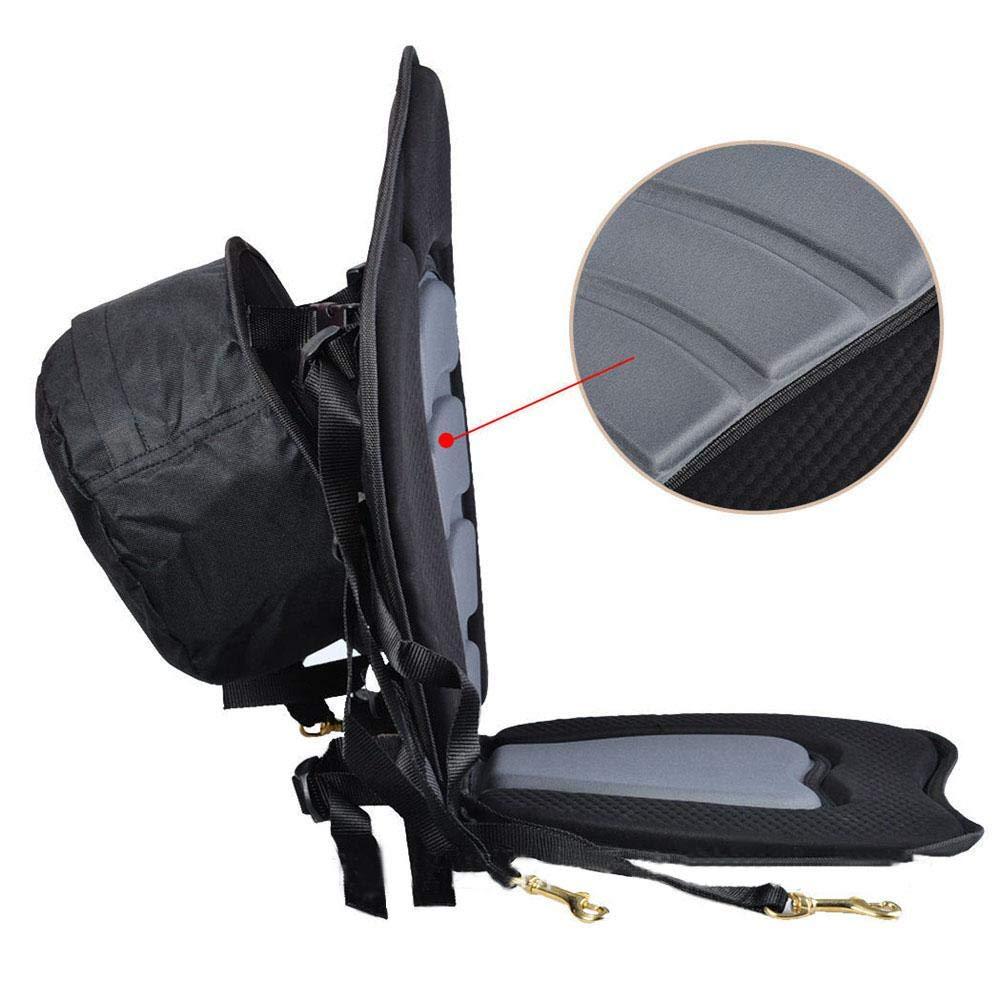Asiento de Kayak Smartey Luxury Asiento de Bote Asiento Suave y Antideslizante Respaldo Alto Asiento de coj/ín Ajustable en Kayak con Respaldo Seguro