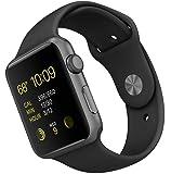 Apple Watch Sport (1 generazione) 42mm A1554corpo in alluminio con Sport Armband nero (mj3t2) (Refurbished)