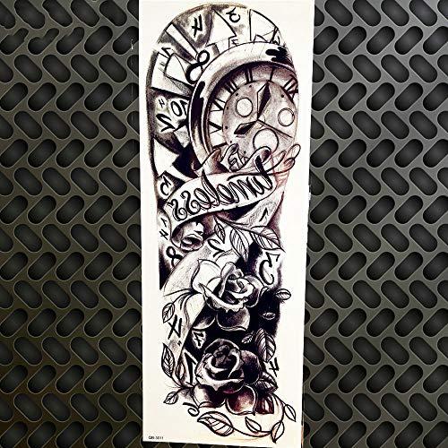 Bell Nun Tattoo Stickers Eye Locomotive Christ Angel Tatoo Men Girls Boys Women Legs Hands Water Transfer Tattoo Back 48X17cm GQB011 -