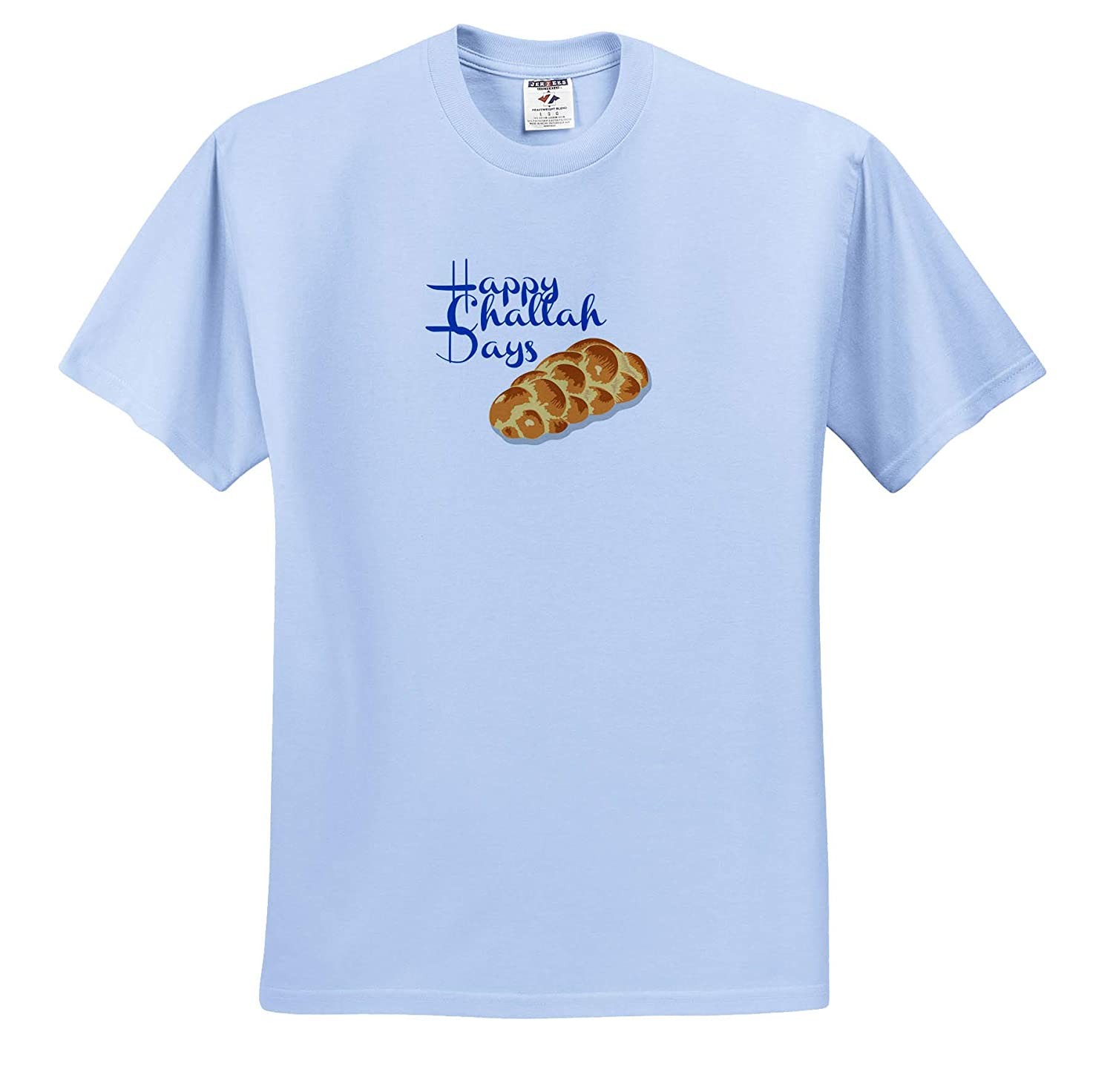 T-Shirts Quote Image of Happy Challah Days Quote 3dRose Gabriella B