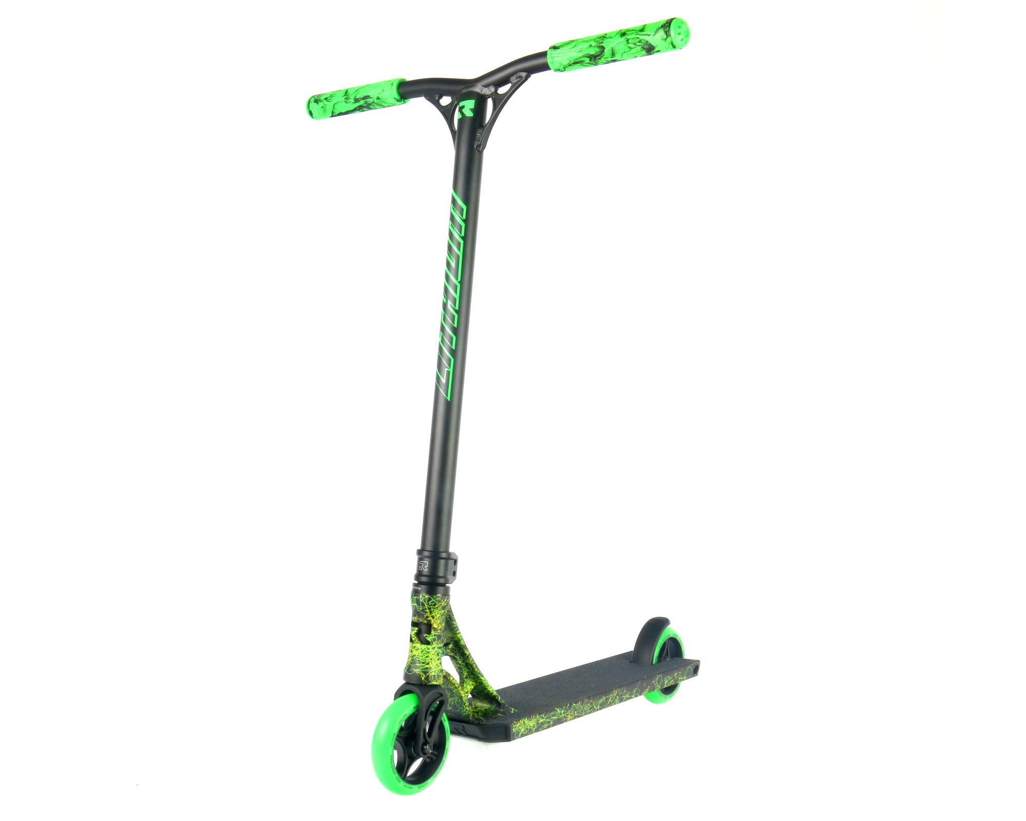 Root Industries Lithium Complete Scooter - Trick/Stunt Kick Scooter - Perfect for Beginner and Advanced Freestyle Scooter Riders - Perfect for Kids Ages 8 and Older - Premium Parts (Blk/Grn/YLW)