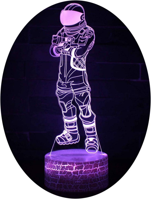 3D Lámpara de Escritorio Win-Y LED 7 del tacto del color de la lámpara (Dark Vanguard 2)