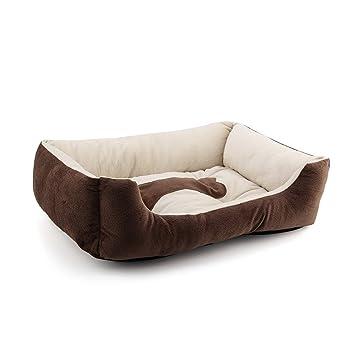 KingNew Cama de forro polar para perro, gato, cachorro, almohadilla para la casa, cojín marrón (S): Amazon.es: Productos para mascotas