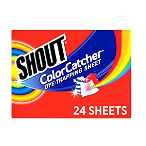 Shout Color Catcher Sheets for Laundry, Maintains Clothes Original Colors, 24 Count