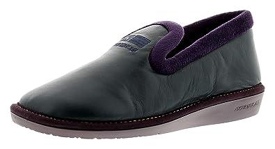 9781b9b9ae5e7 Nordikas 305 4 Leather (Ohio) Womens Ladies Full Slippers Navy - Navy -
