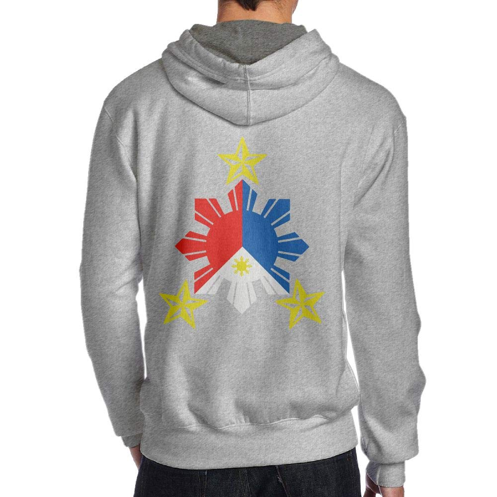 Tribal Philippines Filipino Sun and Stars Flag Back Print Long-Sleeved Hoody for Man