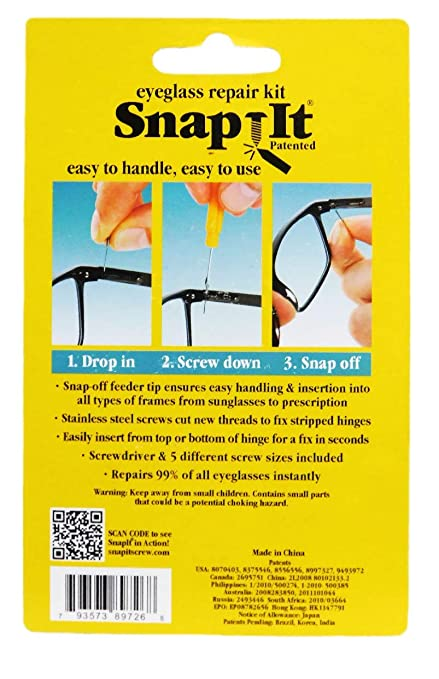 43ef7a7fe90 Amazon.com  SnapIt Eyeglass Repair Kit  Health   Personal Care