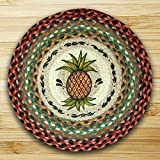 15.5in. x 15.5in. Pineapple Round Chair Pad - Set of 4