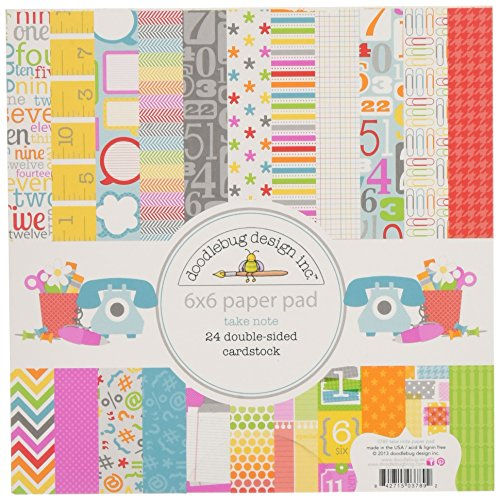 Doodlebug Take Note Paper Pad, 6 by 6-Inch by DOODLEBUG