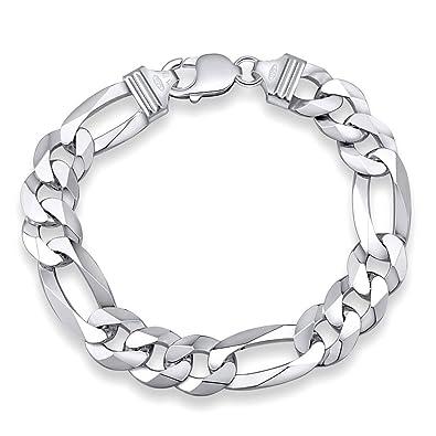 meilleur site web style de la mode de 2019 prix bas Bracelet Homme Argent 925 Chaîne Gourmette Figaro