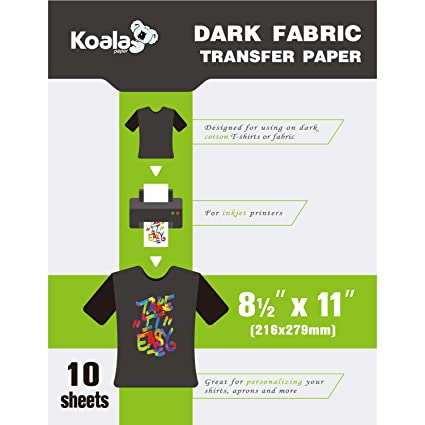 PPD004-20 PPD Inkjet Iron-On Dark T Shirt Transfers Paper LTR 8.5x11 pack of 20 Sheets