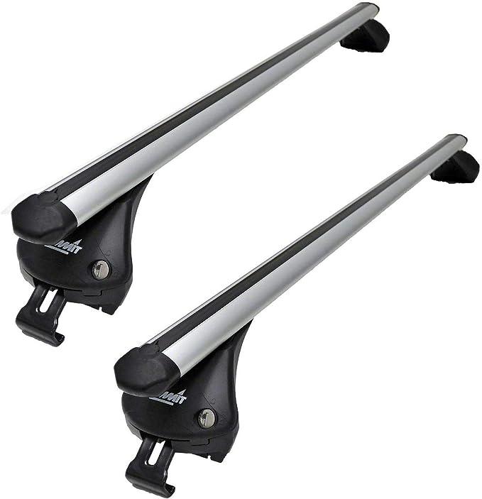 Summit SUP-957 - Baca integrada para Coches, con rieles corredizos (Aluminio, 2 Unidades): Amazon.es: Coche y moto