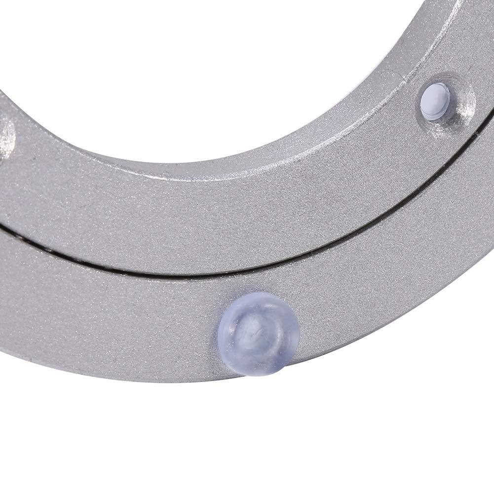Taglia : #1 per Tavolo da Pranzo Rotondo Cuscinetto da Tavolo Giradischi girevoli Heavy Duty in Lega di Alluminio Piastra Girevole Liscia