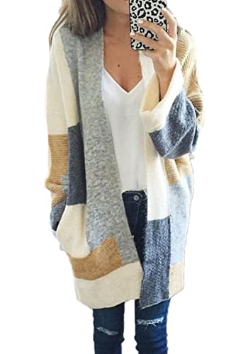 La Mujer Invierno Otoño Casual Knit Cardigan Sweater Prendas Frente Abierto