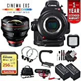 Canon EOS C100 Mark II Cinema Camera Body Only + 128GB Extreme SD Card w/14mm Lens International Version -  6Ave