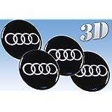 autocollants sur pneus Audi imitation tout Centre taille Cap Logo Badge Enjoliveurs 3d (60mm.)