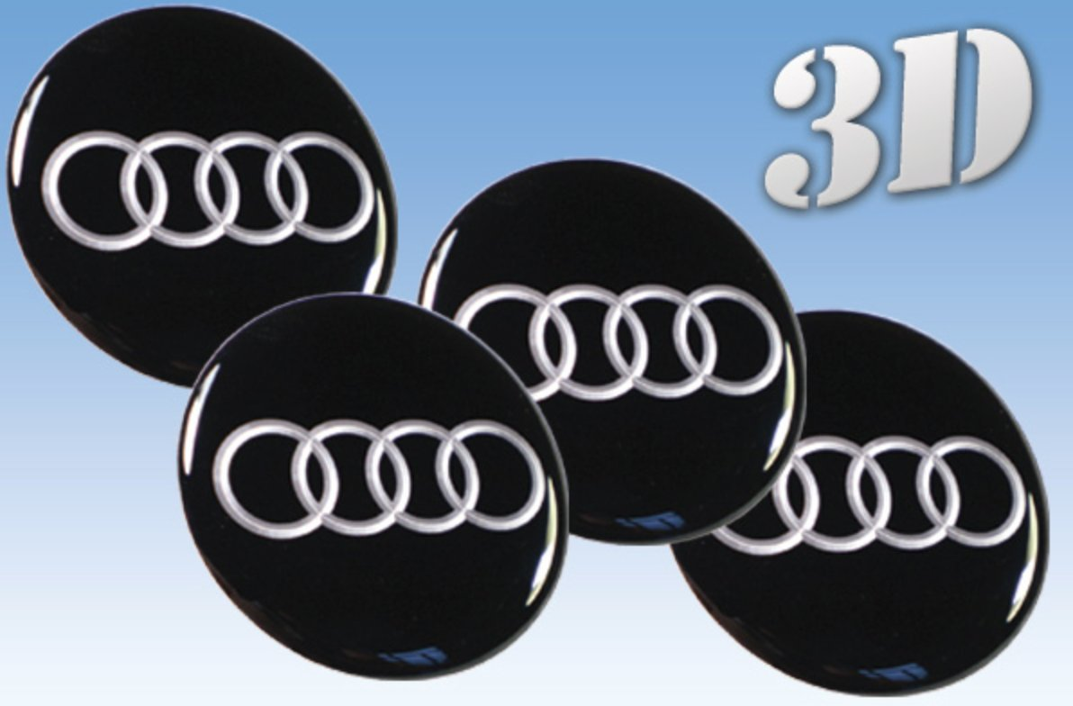 Amazoncom Wheel Stickers Audi Imitation All Size Centre Cap Logo - Audi wheel center caps