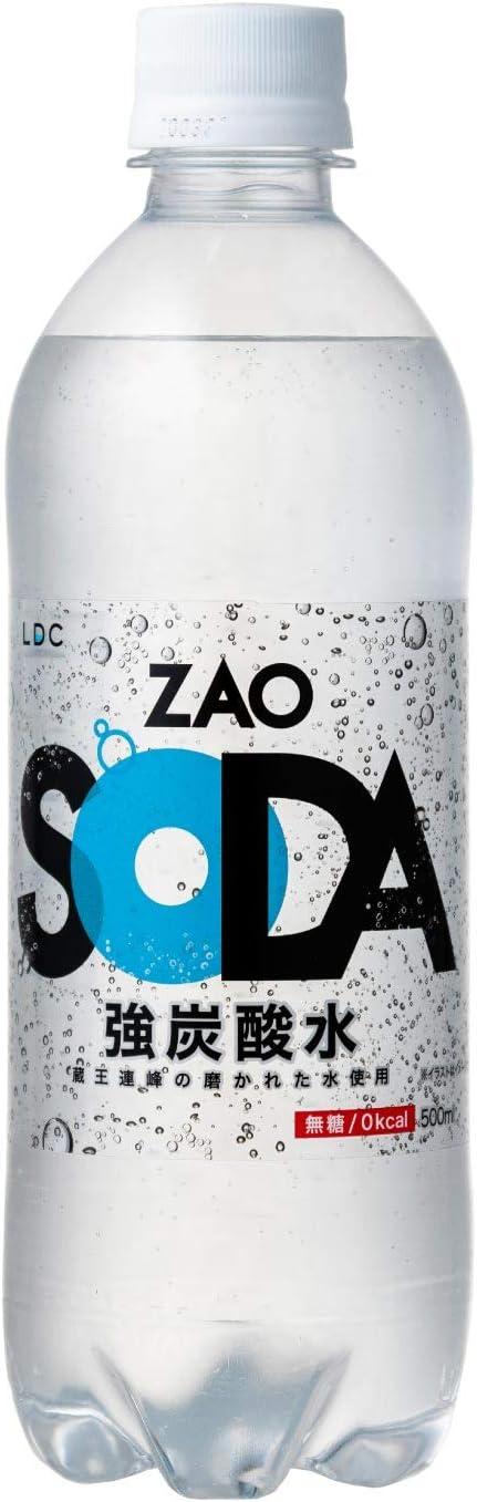 ZAO SODA 強炭酸水 500ml×24本 (プレーン)