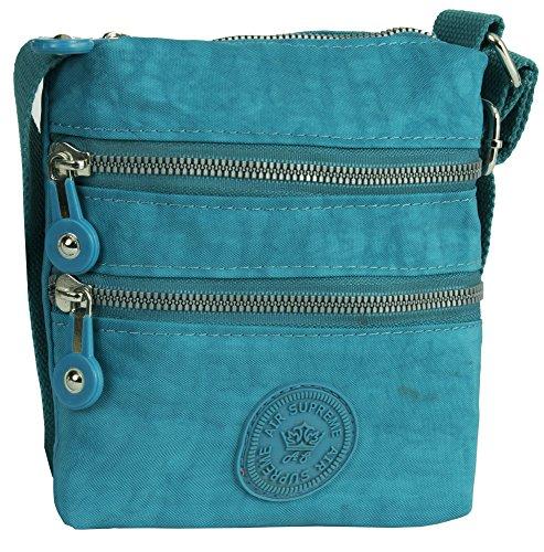 Big Handbag Shop - Bolso de asas de tela para mujer Style 1 - Sky Blue