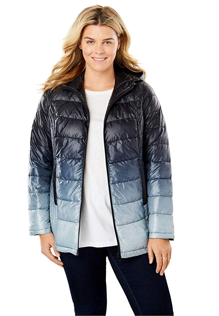 Woman Within Plus Size Packable Puffer Jacket