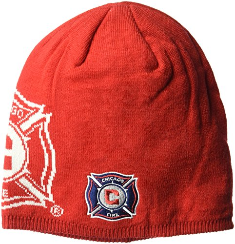 fan products of MLS Chicago Fire Men's Glow in The Dark Knit Beanie, One Size, Red
