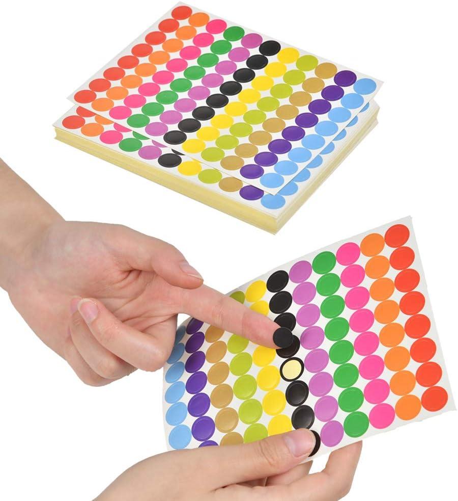 /Ø 10 mm, Klebepunkte Runde Aufkleber f/ür Kalender, Planer und zum Basteln, Papier, matt bunt 4400 selbstklebende Markierungspunkte