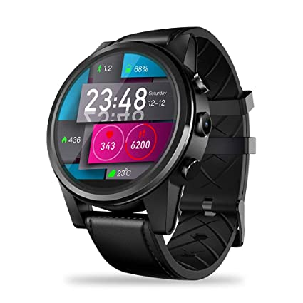 KOBWA Reloj Inteligente WiFi Bluetooth con frecuencia cardíaca, Zeblaze Thor 4 Pro 4G LTE GPS/GLONASS Quad Core 16GROM Reloj Deportivo Compatible con ...