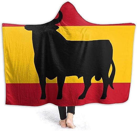 Throw Blanket Sudadera con Capucha Usable Bandera De España Abrigo ...