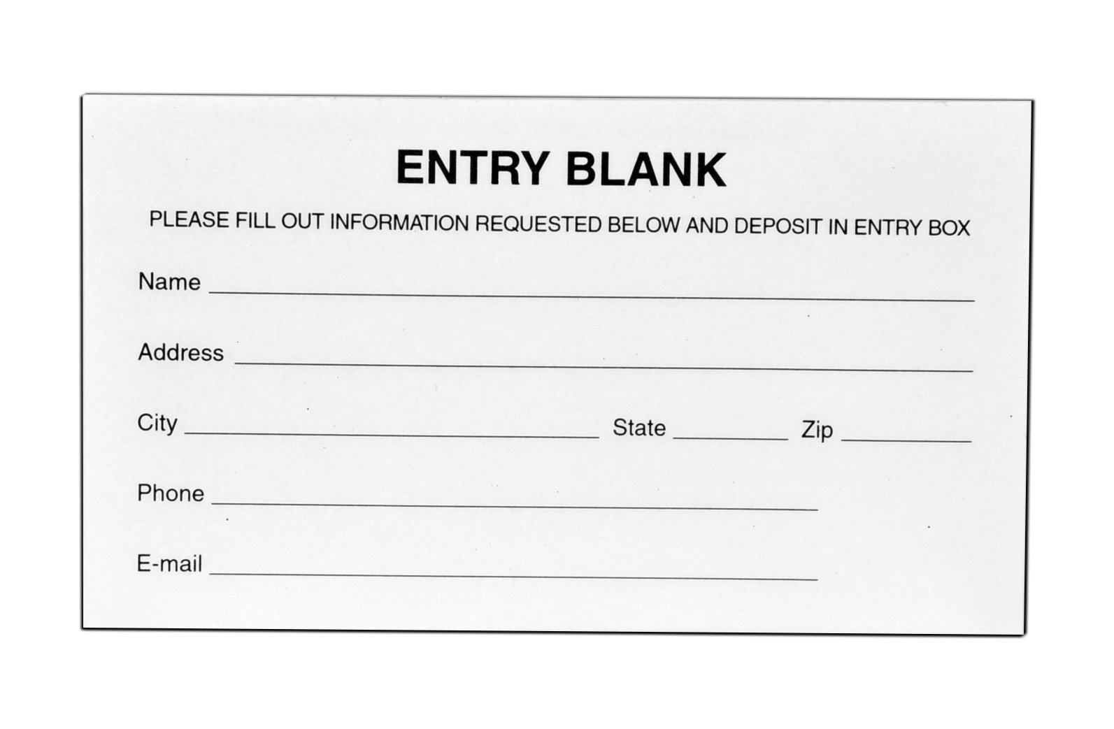 Marketing Holders Entry Forms for Raffles, Contests - Drawing Forms - Suggestion Cards (Pack of 24)