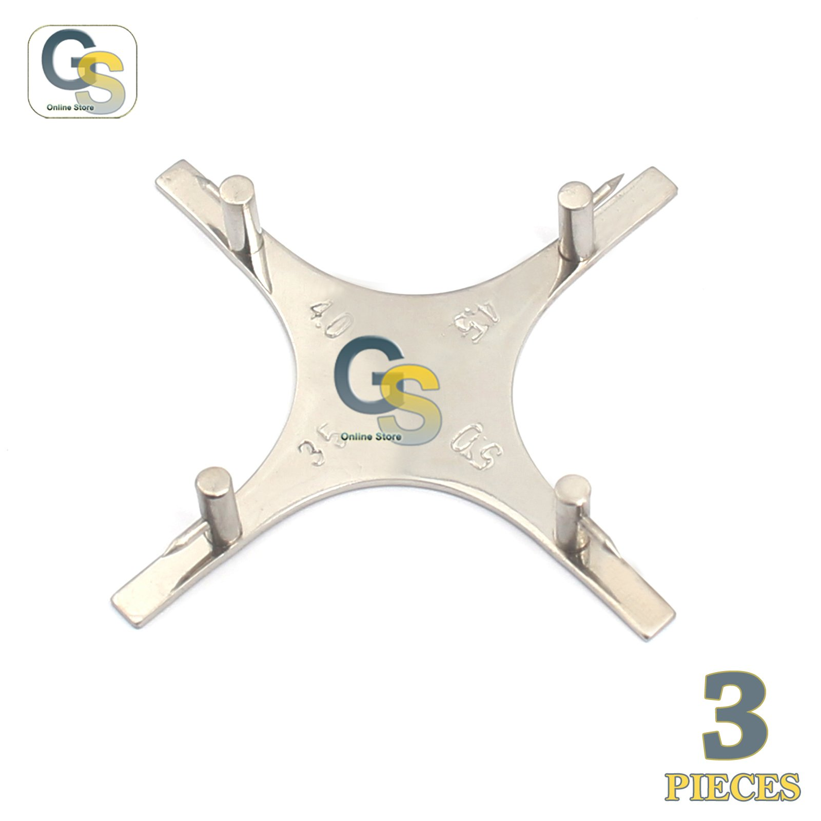 G.S 3 PCS BOONE HEIGHT GAUGE ORTHODONTIC 3.5MM-4MM-4.5MM-5MM DENTAL MEASURING INSTRUMENTS BEST QUALITY