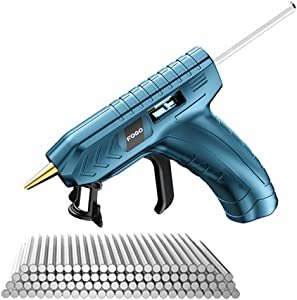 Cordless Hot Glue Gun with 100pcs Glue-Sticks,KKmoon USB Rechargeable Hot Melt Glue Gun for DIY Small Craft Projects and Home Quick Repairs