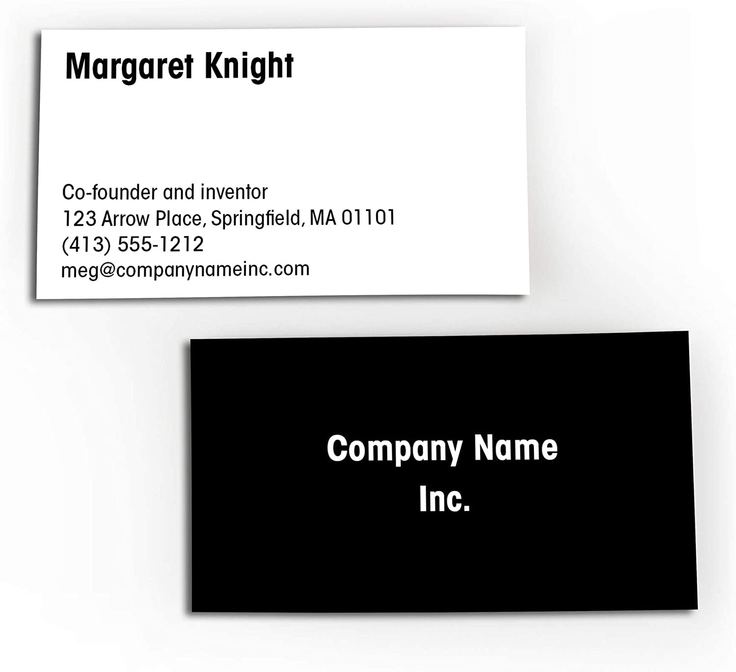3.5x2 Made in The USA 16 pt Thick Cards Basic Black Quantity 250 Buttonsmith Custom Basic Black Premium Printed Business Cards Double-Sided