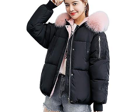 e2702d72774 Lazzboy Womens Down Jacket Coat Winter Faux Fur Hooded Puffer Ladies  Outerwear Oversized Plus Size