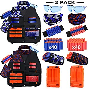UWANTME-2-Pack-Kids-Tactical-Vest-Kit-for-Nerf-Guns-N-Strike-Elite-Series-for-Boys-Girls