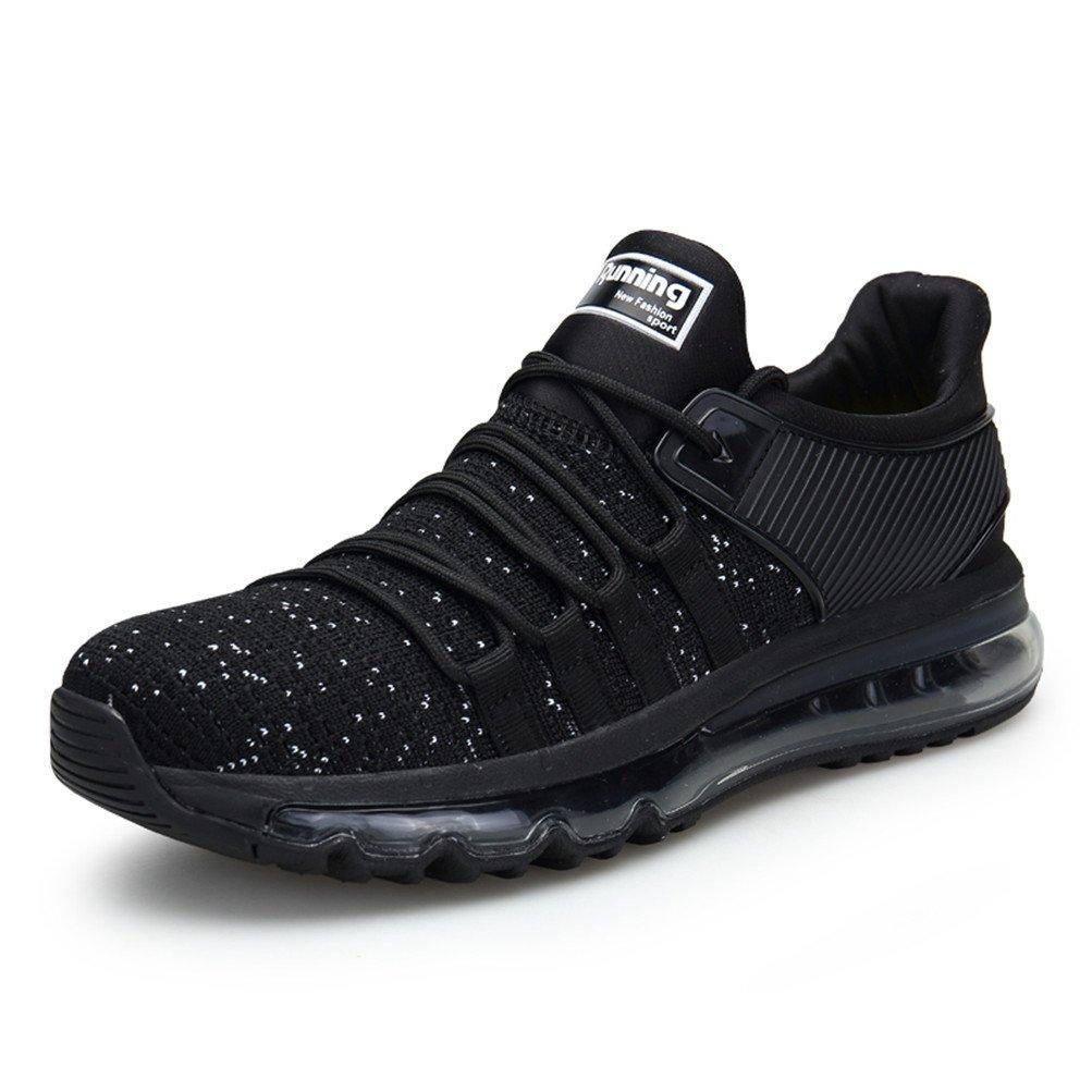 TORISKY Zapatillas de Deportes Zapatos Deportivos Running Zapatillas para Hombre Rojo Blanco Gris Azul (8073-Black43)