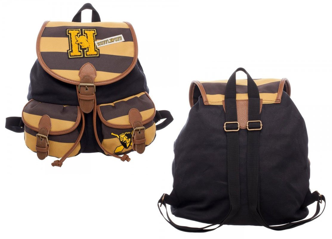 Harry Potter Hufflepuff Knapsack Backpack 14 x 17in