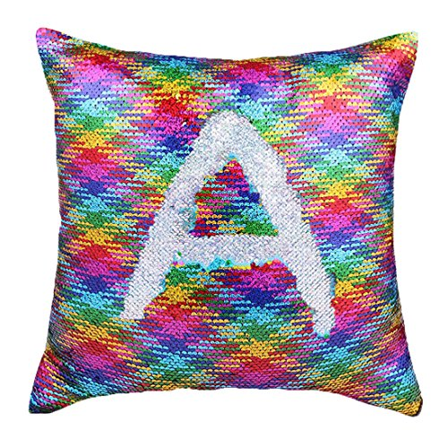 Cover Reversible Sequins Color Changing Pillow Case Funny Home Decoration Multicolor (Multi Color Pillow)