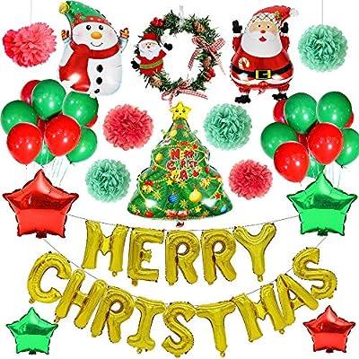 Yansion Christmas Party Decoration Supplies 48pcs Christmas
