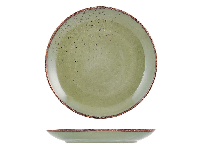 H & H Reactive juego de 6 platos llanos, 27 cm, Color Verde ...