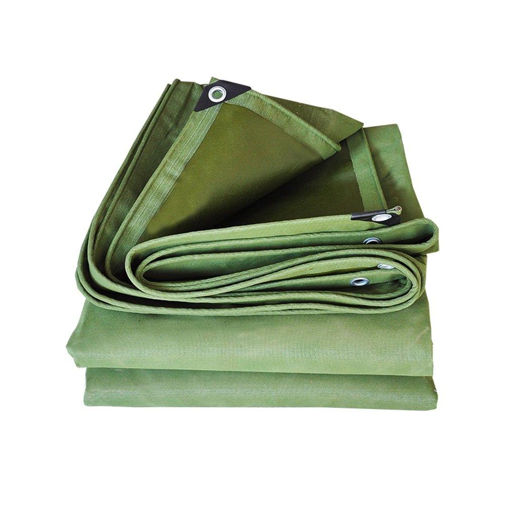 PENGFEI キャンバス オーニングターポリン 防水 屋外 シェード 防雨布 厚い 抗酸化 耐摩耗性、 厚さ0.60MM、 650G/M2、 複数のサイズ (色 : Green, サイズ さいず : 4.8x4.8M) B07FJPCGD8 4.8x4.8M Green Green 4.8x4.8M