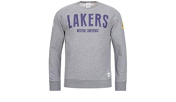 adidas La Lakers NBA Baloncesto Sudadera Western Conference b03359, Gris, Medium: Amazon.es: Deportes y aire libre